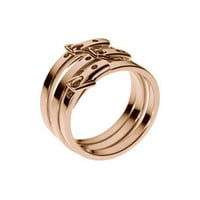 Skinny-Buckle Ring, Rose Golden