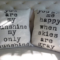 Decorative Pillows Modern Industrial Chic Set of Two