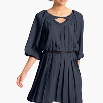 Jessica Simpson Pleated Crêpe de Chine Blouson Dress | Nordstrom