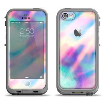 The Tie Dyed Bright Texture Apple iPhone 5c LifeProof Fre Case Skin Set