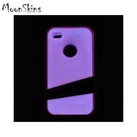 Original MoonSkins AT&T/ Verizon Apple iPhone 4, iPhone 4S Glow-In-The-Dark Crystal Silicone Case, MSK-SI01-01 - Magenta -- FREE SHIPPING -- AccessoryGeeks