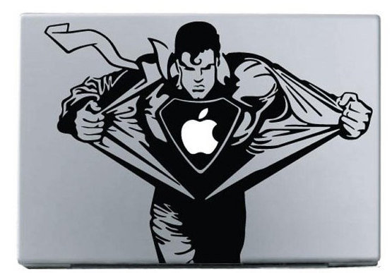 Superman Macbook Decal Sticker Macbook Decals Apple Macbook Decal Apple Sticker for macbook Air Pro