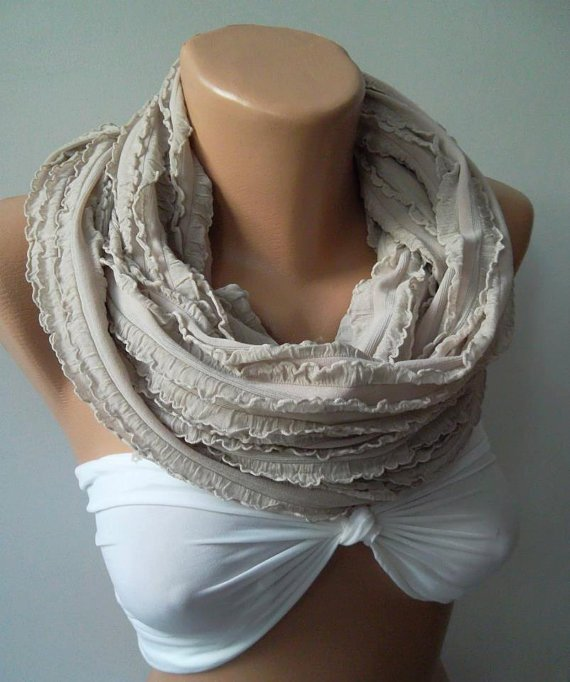 Infinity Scarf Loop Scarf Circle Scarf - Elegant - It made with good quality  fabric.....Super Loop