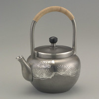 Tea Pot, Oxidized, Top handle
