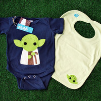 Sewing Wars - Baby Youda Infant Bodysuit and Bib Combo