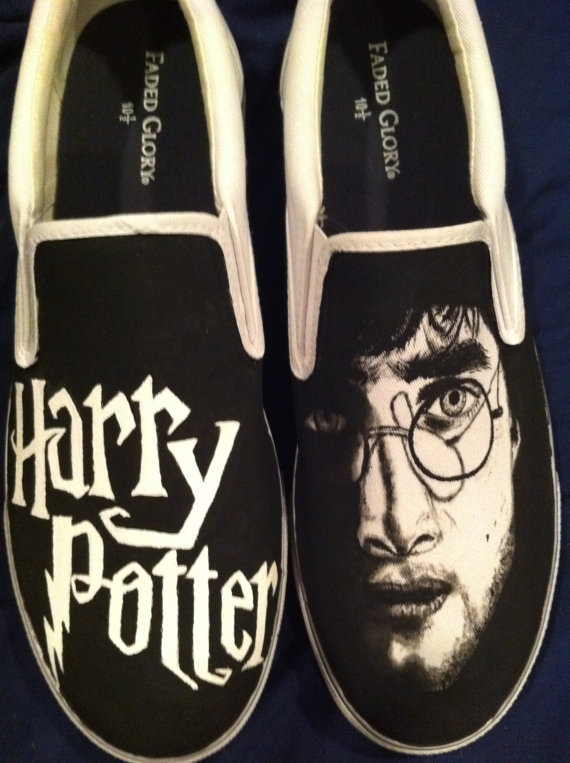 Harry Potter Painted Men&#x27;s Shoes