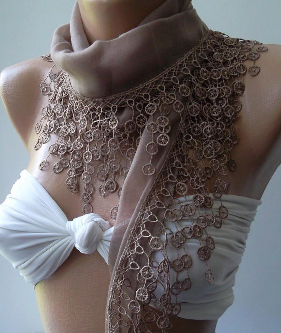 Scarf - Cotton scarf -Soft  Scarf......Stone Color....Elegance Scarf / Shawl