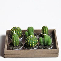 Cactus Tealight Candles - $14.00: ThreadSence, Women&#x27;s Indie &amp; Bohemian Clothing, Dresses, &amp; Accessories