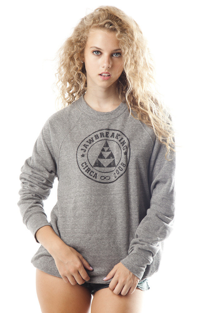 JAWBREAKING  Unisex Logo Triblend Fleece Sweatshirt