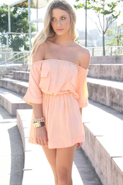 SABO SKIRT  Peach Frock - $58.00