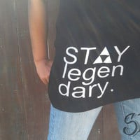 Black &quot;Stay Legendary&quot; women&#x27;s tank top