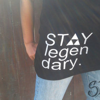 "Black ""Stay Legendary"" women's tank top"
