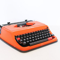 Vintage manual orange Antares Typewriter