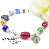 Gift Idea for Daughter in Law- Poem Bracelet