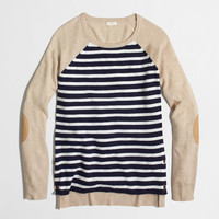 Factory side-button elbow-patch sweater in stripe : early_access_2021 | J.Crew Factory