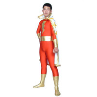 Red Lycra Spandex Back Zipper Zentai Superhero Catsuit with a Cape Fancy Dress [TWL111226026] - £30.59 : Zentai, Sexy Lingerie, Zentai Suit, Chemise