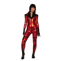 Red Shiny Metallic Alien Woman Soldier Catisuit Fancy Dress [TOQ111227051] - £26.19 : Zentai, Sexy Lingerie, Zentai Suit, Chemise