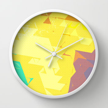 In Love With Texture Wall Clock by Uma Gokhale