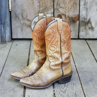 Vintage Marbled Cowboy Boots, Sweet Country Inspired Vintage Clothing