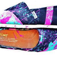 80s Retro Glam Custom Painted TOMS