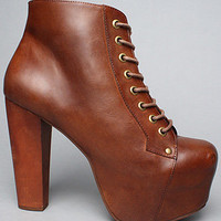 The Lita Shoe in Brown Distressed by Jeffrey Campbell Shoes
