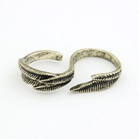 Leaves Two Fingers Ring@11042625
