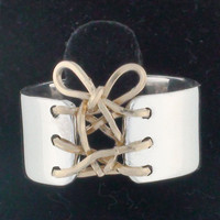 Auralee's Mini Corset Ring Sterling Silver 14K Gold Filled Tied Up Corset Ring