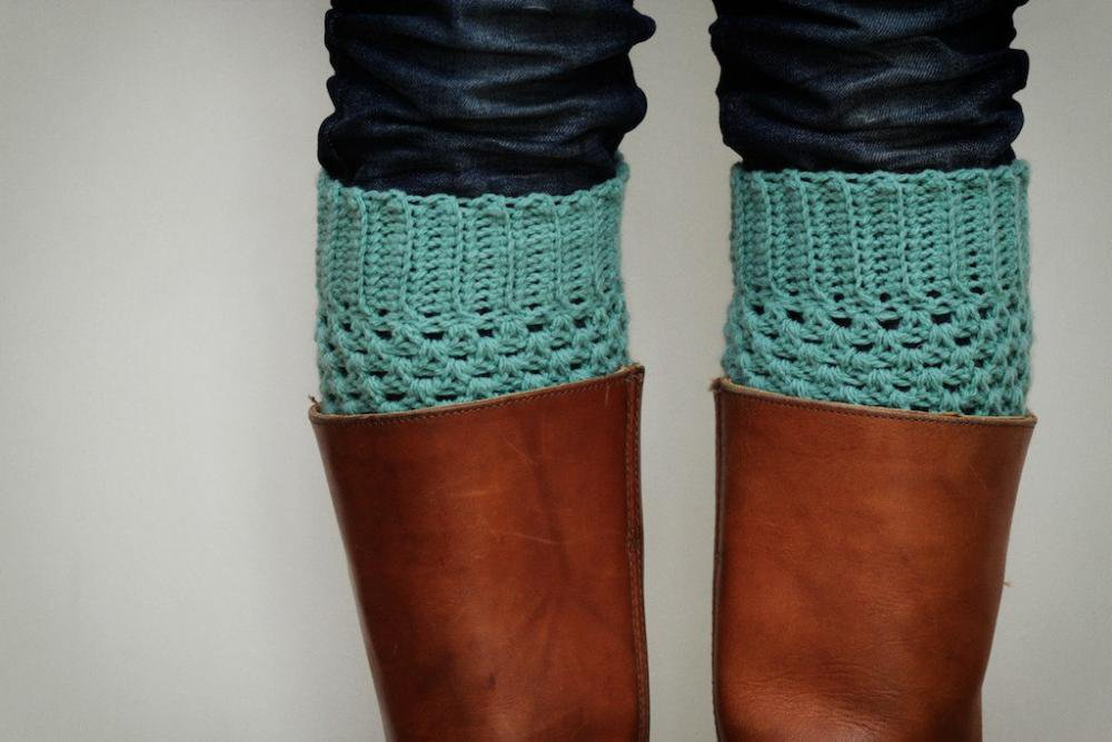 Crochet Boot Cuffs In Pastel Mint G.. on Luulla