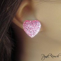 Pynk Krush — Pink Heart Stud Earrings