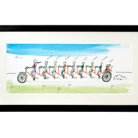 PERSONALIZED FAMILY TANDEM BIKE ART - I