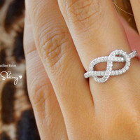 Infinity Knot Diamond Ring The Original 14K