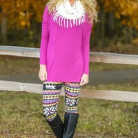 PIKO:Just About Anywhere Blouse-Sugarplum