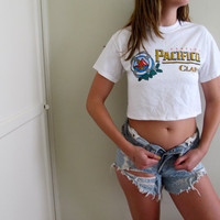 Pacifico Crop Top Cropped Womens Tee Shirt Beer Mexico