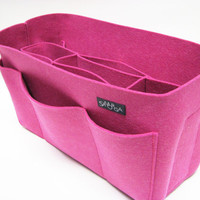 Hot pink felt bag organizer  large size W 12in H 67in D by samorga