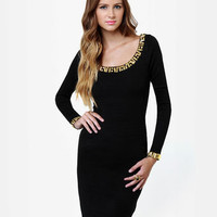 Bits of Glitz Studded Black Dress