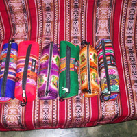Peruvian Design Multicolored Pencil Cases