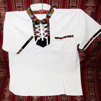 Peruvian Design Ultra Cotton Polo Shirt. Super-Soft and Fashionable.