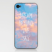 Dream Beyond the Sky... iPhone &amp; iPod Skin by Lisa Argyropoulos | Society6