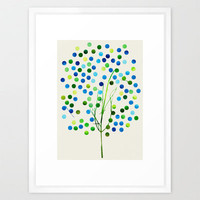 Tree of Life_Aqua Framed Art Print by Garima Dhawan | Society6