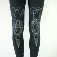 Black Refraction Jersey Leggings