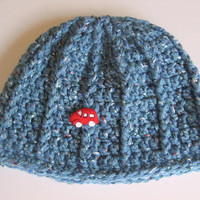 Crochet Blue Baby Boy Hat 6 - 12 Months