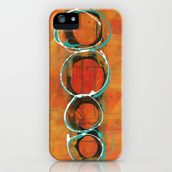 Stacked Circles iPhone & iPod Case by Judy Applegarth