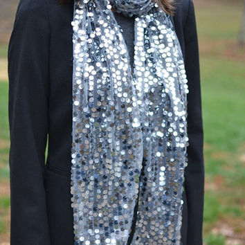 Holiday Sparkle Scarf in Silver