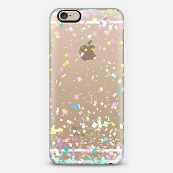 Pastel Confetti Explosion Transparent iPhone 6 case by Organic Saturation | Casetify