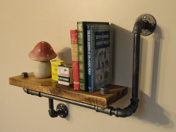 Single Industrial Maple Shelf, Made From Local and Rescued Hardwood Maple