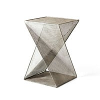 Twisted Mesh Metal Table