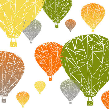 BALLOONS Art Print by ARCHIGRAF