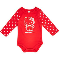 River Island Mini girls red Hello Kitty bodysuit