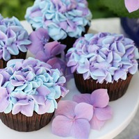 The day / Hydrangea Cupcakes