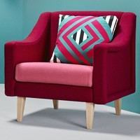 Upholstered fabric armchair with armrests CHAVELA The Twenties Collection by Missana   design Pepe Albargues